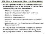 doe office of science and esnet the esnet mission