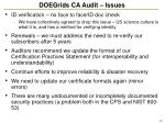 doegrids ca audit issues