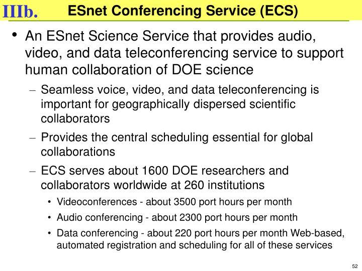 ESnet Conferencing Service (ECS)