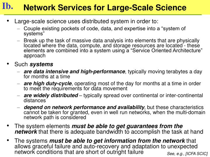 Network Services for Large-Scale Science