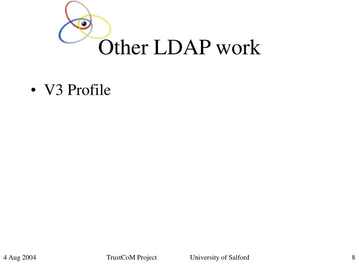 Other LDAP work