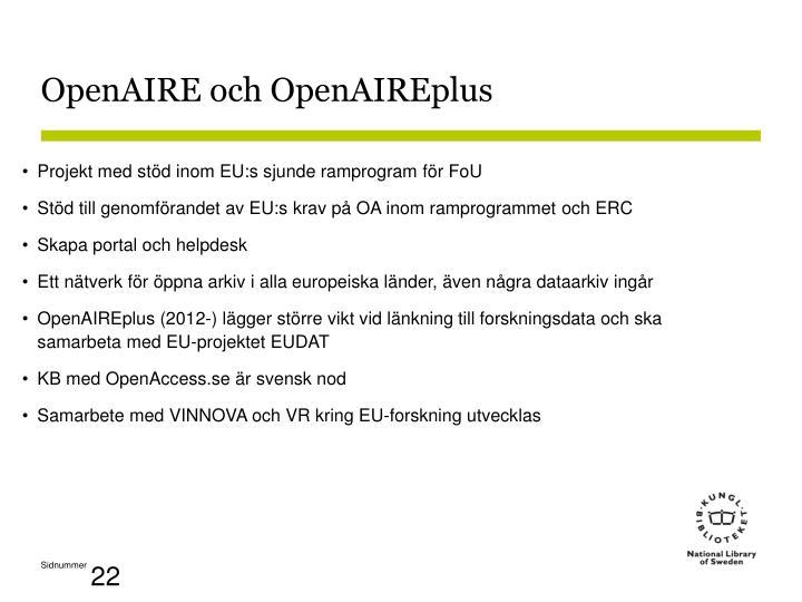 OpenAIRE och OpenAIREplus
