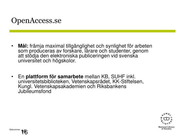 OpenAccess.se