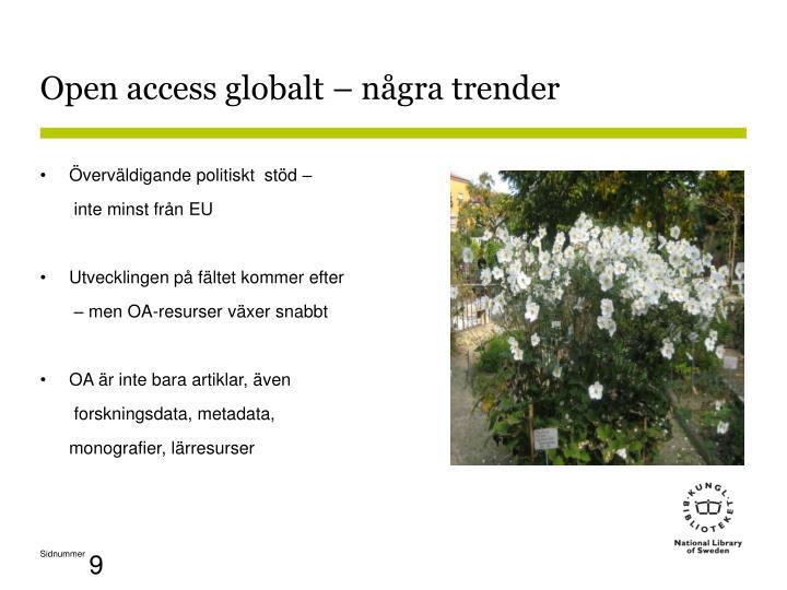 Open access globalt – några trender