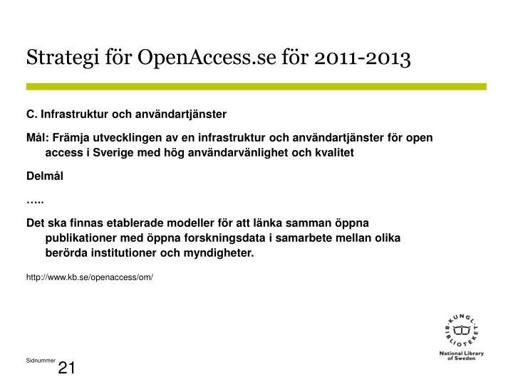Strategi för OpenAccess.se för 2011-2013