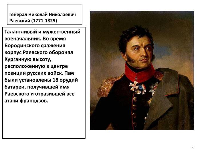 Генерал Николай Николаевич Раевский (1771-1829)