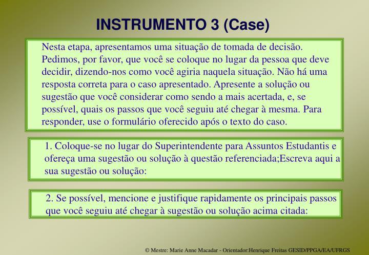 INSTRUMENTO 3 (Case)