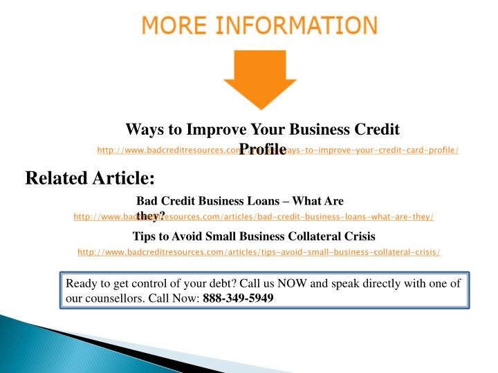 Ways to Improve Your Business Credit Profile