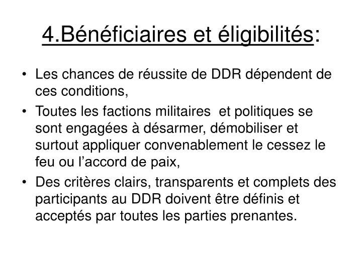 4.Bénéficiaires et éligibilités