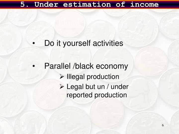 5. Under estimation of income