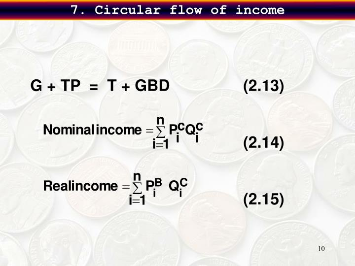 7. Circular flow of income