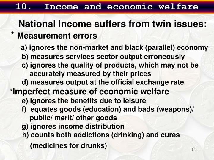 10.  Income and economic welfare
