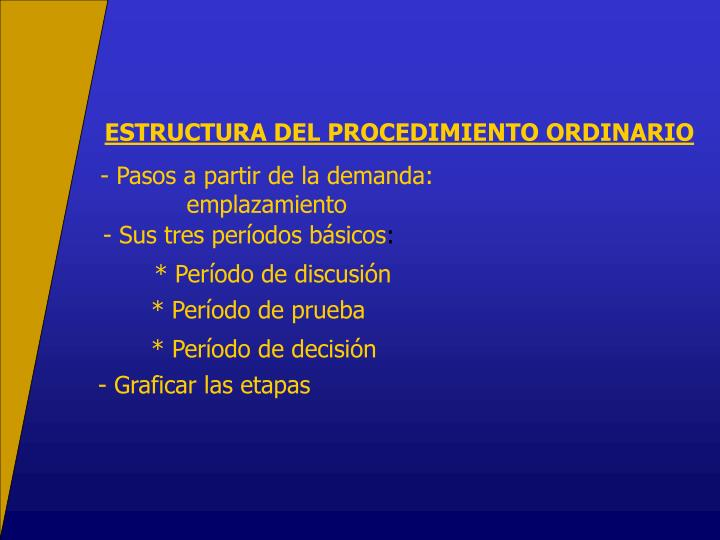 ESTRUCTURA DEL PROCEDIMIENTO ORDINARIO