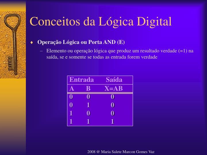 Conceitos da Lógica Digital