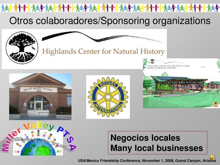 Otros colaboradores/Sponsoring organizations