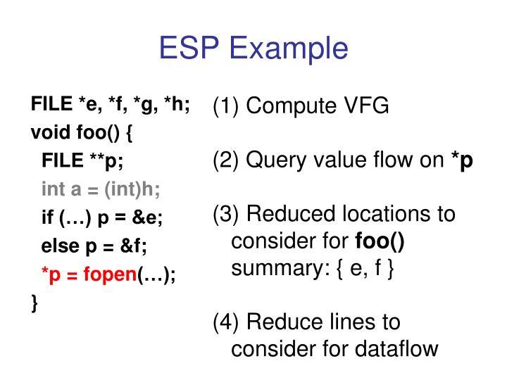 ESP Example