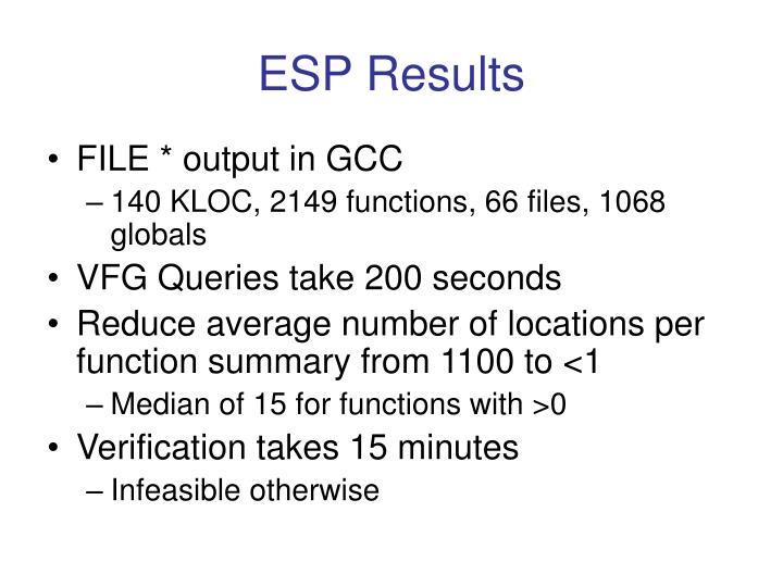ESP Results