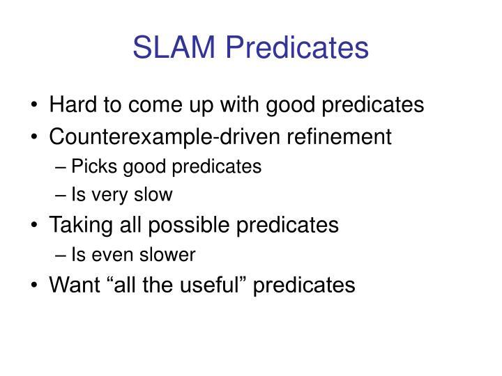 SLAM Predicates