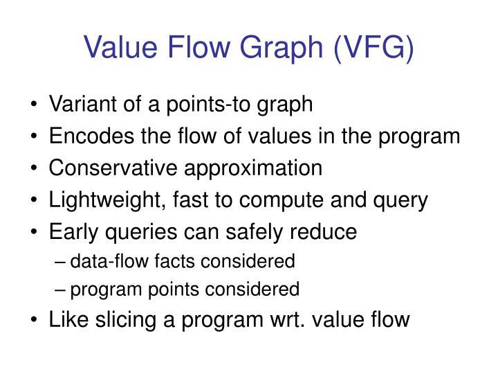 Value Flow Graph (VFG)