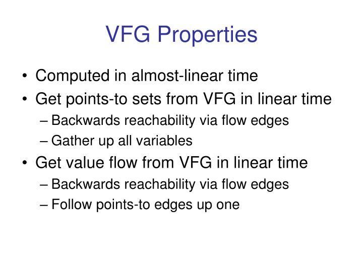 VFG Properties