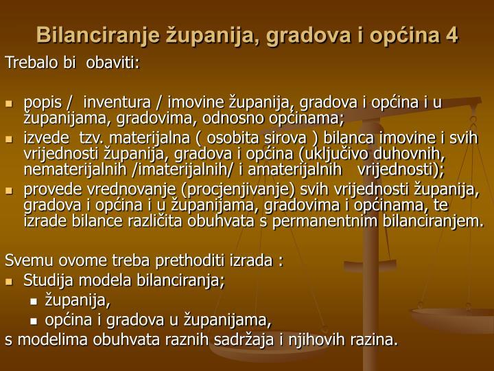 Bilanciranje županija, gradova i općina 4
