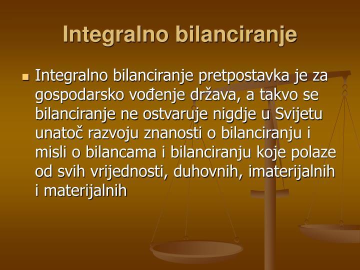 Integralno bilanciranje