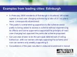 examples from leading cities edinburgh