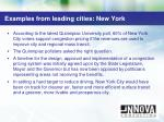 examples from leading cities new york