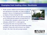 examples from leading cities stockholm1