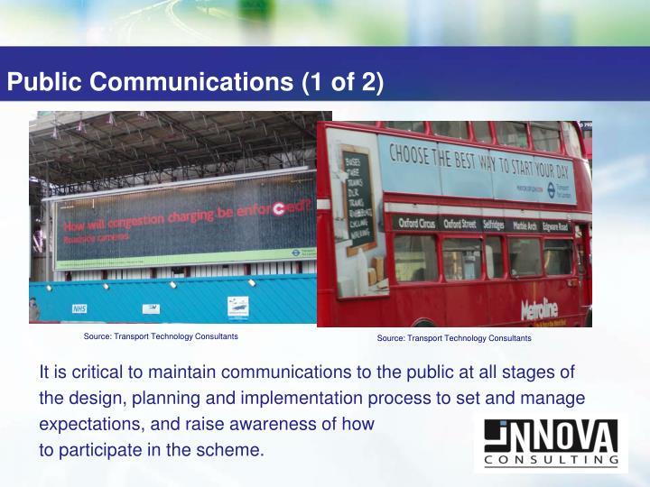 Public Communications (1 of 2)
