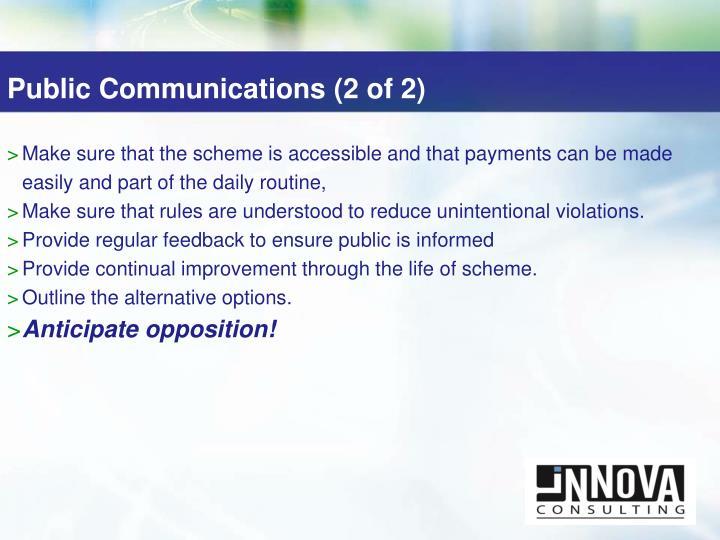 Public Communications (2 of 2)