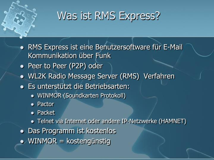 Was ist rms express