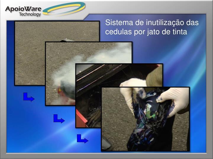 Sistema de inutilização das cedulas por jato de tinta