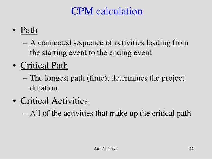 CPM calculation