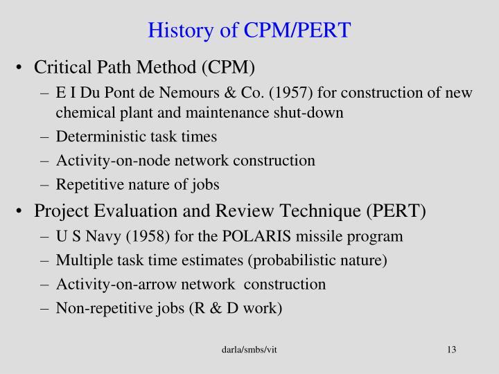 History of CPM/PERT