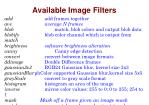 available image filters