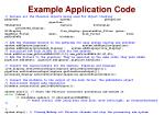 example application code