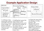example application design