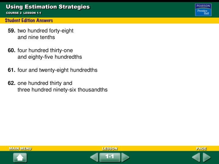 Using Estimation Strategies