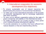 4 international cooperation for economic development our objectives