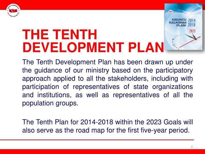 THE TENTH DEVELOPMENT PLAN
