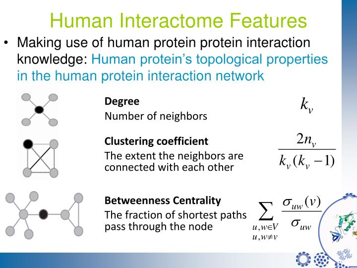 Human Interactome Features