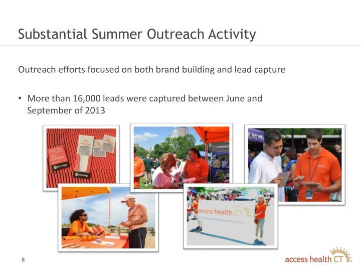 Substantial Summer Outreach Activity