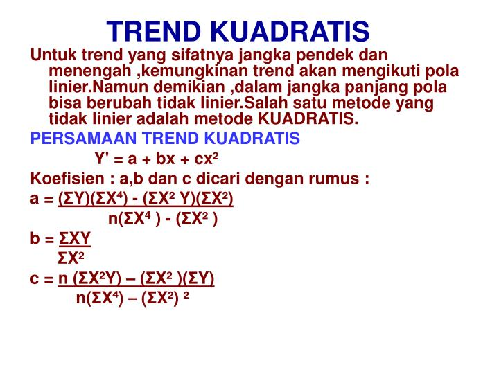 TREND KUADRATIS