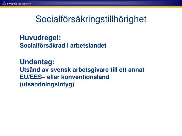Socialförsäkringstillhörighet