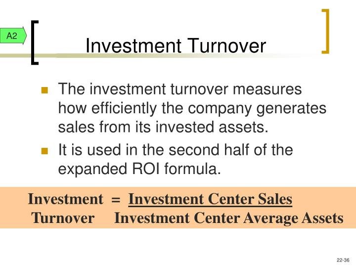 Investment Turnover