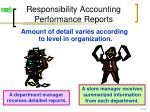 responsibility accounting performance reports