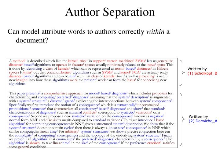 Author Separation