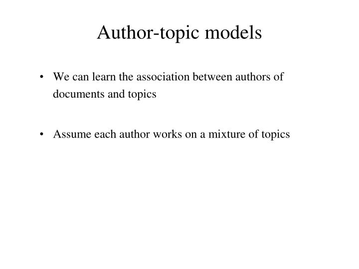 Author-topic models