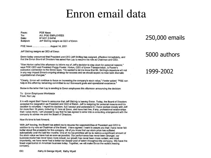 Enron email data